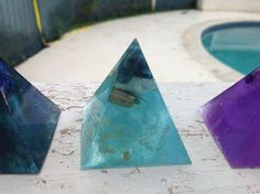 Mini-pyramid Orgone Generator from Pocket Orgonite. Kyanite, Quartz & 24k Gold Flakes. US $25. Visit the Pocket Orgonite Facebook shop or website www.pocketorgonite.com to see this and other beautiful healing items for sale. Flakes, Quartz, Healing, Pocket, Facebook, Website, Mini, Gold, Shopping