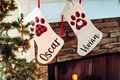 Pet Christmas Stocking - Christmas Stocking for Dog - Christmas Stocking for Cat - Personalized Pet Stocking - Paw Print Stocking - Fur Baby Christmas Gifts For Pet Lovers, Diy Xmas Gifts, Craft Gifts, Pet Christmas Stockings, Pet Stockings, Christmas Animals, Christmas Dog, Christmas Morning, Gifts For Dog Owners