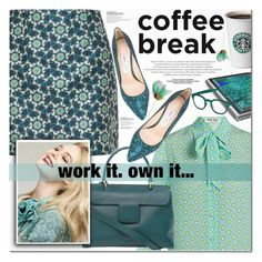 """HEI....MONDAY"" by nanawidia ❤ liked on Polyvore featuring Ted Baker, Miu Miu, Jil Sander, Jimmy Choo, L'Oréal Paris, Microsoft, See Concept and bighug"