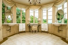 An elegant vanity at this home in New York.  Photo Credit: Franklin Ambrosino
