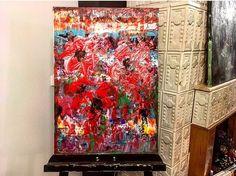 "51 aprecieri, 1 comentarii - BMR -🎨 painter (@bogdanmihairadu) pe Instagram: ""#flowers #flowerstagram #red #redflower #atelierbmr #mywork #atelierbogdanmihairadu #artlife #art🎨…"""