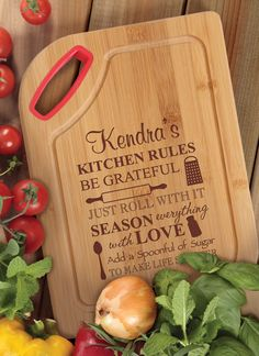 The perfect companion to mealtime prep, this personalized bamboo cutting board is great for slicing and dicing. Add an image, name or date to make a one-of-a-kind gift for a family or friend. Accented with a bright silicone handle for a splash of color and improved grip.