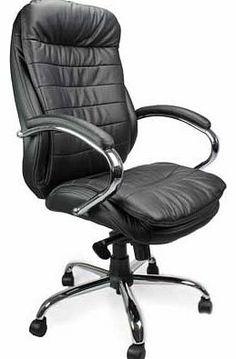high back leather executive armchair with chrome base pinterest