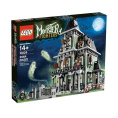 10228 Haunted House is a Monster Fighters set released on September 1, 2012. It includes 2064 pieces, making it the theme's largest set. It is intended for ages 14+. It contains the minifigures Lord Vampyre, Zombie Chef, Vampyre's Bride, two Ghosts, and the Zombie Butler. The Zombie chef and Zombie Butler are exclusive to the set. The set consists of three parts: the massive mansion, a gate, and the six minifigures.