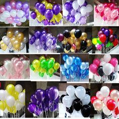 20pcs/lot 10 inch1.2g Latex balloon Helium Round balloons 16colors Thick Pearl balloons Wedding Party Birthday Balloons