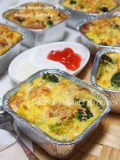 chicken mushroom broccoli frittata recipe