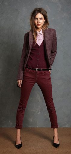 preppy casual. Love these colors!
