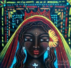 Black Madonna Of My Heart Painting