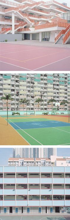Another GAH! moment. These pastel-toned photographs by Ward Roberts are what dreams are made of. His skillful lens captured the beauty of several courts that were originally built one with sole pur…