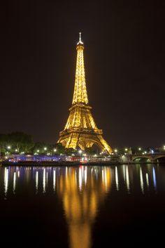 Eifel Tower Night Reflection by Mak Boz, via 500px-Need I say more?