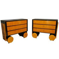"Rational [I have no idea what ""Rational"" means in this context) Art Deco Chests of Drawers  L 4 ft. 1.6 in. D 19.69 in. H 39.37 in. $9,200"