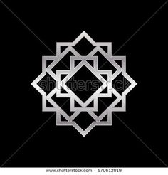 Silver metallic Islamic Ornament