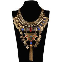 Nigeria wedding beads jewelry jewelrys for women statement jewelry vintage colorful stone necklace