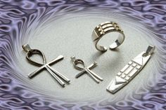 Sterling Silver Atlantis Cross, Atlantis Pendant and Atlantis Ring.