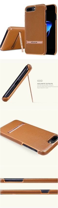 Newest iPhone 7 Plus fashion slim leather case with style for the savvy users. Fits well into workout and gym clothes. Great gift home accessory products for Apple iPhone 7 Plus owners, gizmos lovers, current smartphone and cellphone owners, shoppers who o are active in health and fitness and travel  #tech