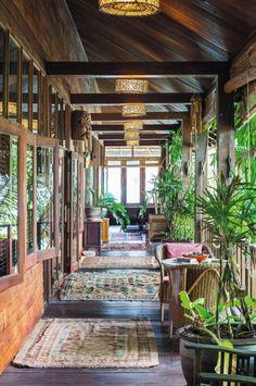 Veranda Interior Design : Top 25 Photos of Decorating Ideas 2019 – Page 27 of 29 – eeasyknitting. Tropical House Design, Tropical Houses, Future House, My House, Veranda Interiors, Jungle House, Outdoor Rooms, Outdoor Patios, Outdoor Kitchens