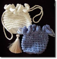 The Jane Austen Reticule free knitting pattern via janeausten.co.uk