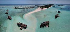 best overwater bungalow resorts maldives gili lankanfushi aerial
