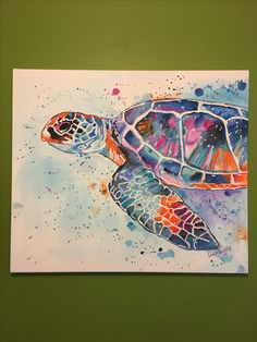 Watercolor Fish, Watercolor Paintings, Watercolour, Sea Turtle Art, Sea Turtles, Turtle Painting, Watercolor Projects, Guache, Fish Art