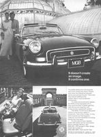 MGB Sports Cars 1972 Ad Picture