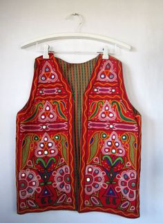 Vintage 1960s Banjara Gypsy Embroidered Tribal by VeraVixeness, $65.00