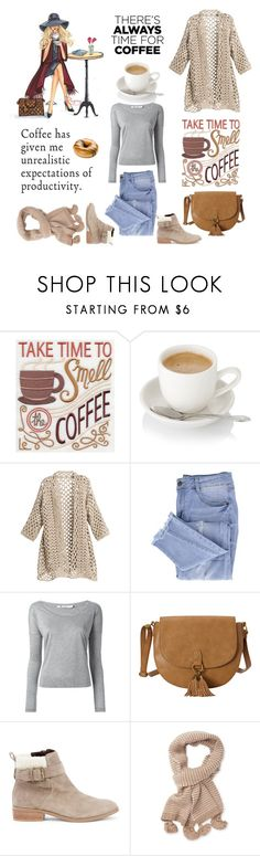 """""""Enjoy your coffee ☕"""" by thefakecake ❤ liked on Polyvore featuring WALL, Chico's, Essie, T By Alexander Wang, T-shirt & Jeans, Sole Society, Portolano and CoffeeDate"""