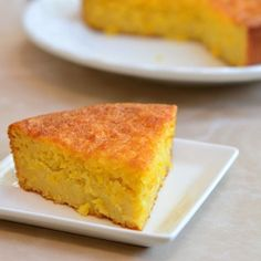 Sweet Corn Bread - rich, moist and studded with corn bits