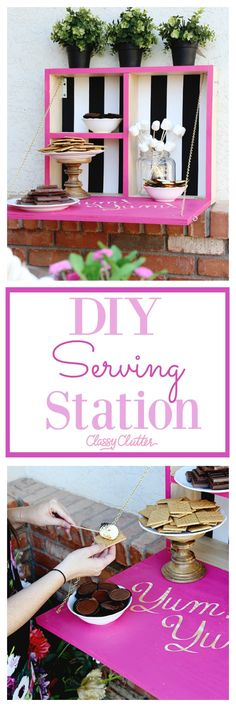 Girl's Night S'mores Party + DIY Marshmallow Roasting Station - Click for ideas and tutorials - www.classyclutter.net