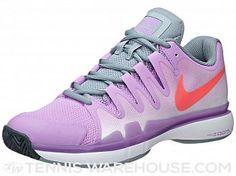 Nike Zoom Vapor 9.5 Tour Fuchsia/Red Women's Shoe | Tennis Warehouse Tennis Warehouse, Purple Roses, Court Shoes, Nike Zoom, Cleats, Golf, Sneakers Nike, Red, How To Wear