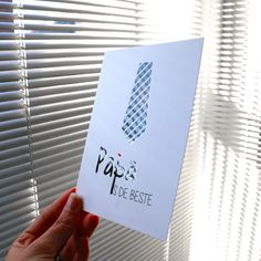 Postkaart A6 'Papa is de beste' met uv-spot  #madebythelittledots