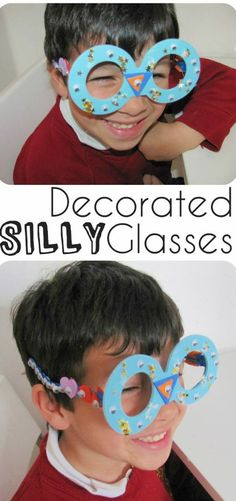 Simple and easy 10 minute craft - silly decorated glasses!