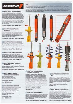 Koni suspension products available from Carnoisseur http://www.ryanint.com/ri/
