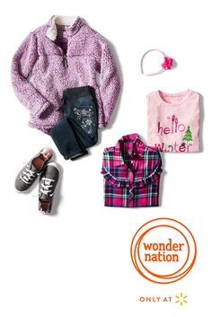 f26c0ce69816 A warm winter welcome awaits your kids with cute new looks from Wonder  Nation. If