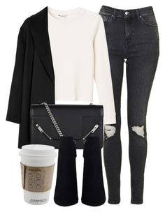 """Untitled #6581"" by laurenmboot ❤ liked on Polyvore featuring Topshop, Monki, Agnona and Yves Saint Laurent"