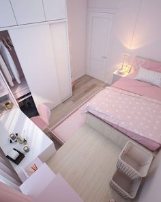 See More in Pin Indonesiya Small Apartment Bedrooms, Small Room Bedroom, Home Bedroom, Bedroom Decor, Dream Rooms, Dream Bedroom, Cute Room Decor, Small Bedroom Designs, Home Room Design