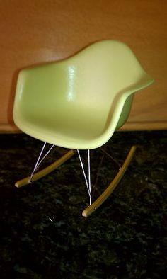 1 6 Scale Miniature Vitra Eames Olive RAR Rocking Chair in Crate Very RARE Ltd | eBay