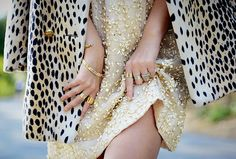 Sequins and animal print.