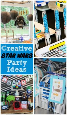 Star Wars Party Ideas - Baby Star Wars - Ideas of Baby Star Wars - Tons of awesome and creative Star Wars party ideas which are definitely popular right now with the release of a new movie coming soon! Star Wars Birthday, Boy Birthday, Birthday Ideas, Cake Birthday, Tema Star Wars, Aniversario Star Wars, Star Wars Baby, 6th Birthday Parties, Kid Parties
