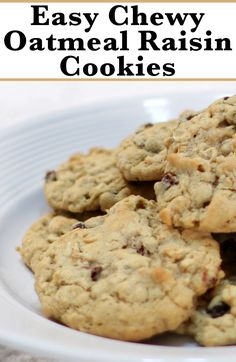 This recipe for chewy oatmeal raisin cookies is really easy to make!