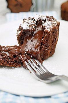 stuttgartcooking: Moelleux au Chocolat oder Schokoladen-Törtchen mit flüssigem Kern