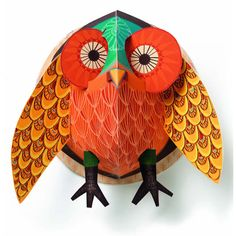 Pop Up: Owl Create uniquely beautiful wall art in three easy steps with the Djeco Pop Up. It's made entirely of sturdy paper that opens like a book and expands into a stunning decoration that can be hung on your children's bedroom walls. Made in France. Owl Artwork, Owl Wall Art, Pop Up Art, Baby Decor, Kids Decor, Children's Pop Up Books, Owl Home Decor, Owl Kids, Owl Pictures