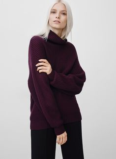 Wilfred MONTPELLIER SWEATER | Aritzia LOVE THIS COLOR (oxblood)