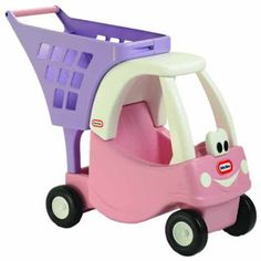 I love this little shopping cart. Perfect size for little hands to push it and play pretend