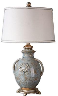 Uttermost Cancello Blue Glaze Lamp 26483