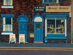 Beats Grocers by Doreen Fletcher (born 1952 Stoke-On-Trent) Brunswick Street, Museum Art Gallery, Building Art, Stoke On Trent, East London, London Life, Art Uk, Local History, Built Environment