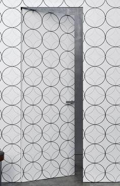 Rasomuro Door by Lualdi Porte modern interior doors Hidden Doors In Walls, Hidden Door Hinges, Hidden Rooms, Closet Door Alternative, Door Alternatives, Wallpaper Door, Invisible Doors, Room Divider Screen, Room Dividers