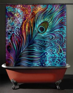 Peacock Feather Shower Curtain 20 00 Www Allthingspeacock