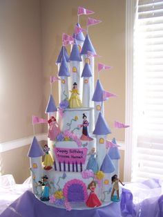 disney princess castle cake-