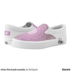 ethnic floral pink mandala. Slip-On sneakers - Printed Unisex Canvas Slip-On #Shoes Creative Casual #Footwear #Fashion #Designs From Talented Artists - #sneakers #feet #fashion #design #fashiondesign #designer #fashiondesigner #style - Look sporty stylish and elegant in a pair of unique custom sneakers - Each pair of custom Low Top ZIPZ Shoes is designed so you can fit your style to any wardrobe mood party or occasion - Fashionable sneakers for kids and adults give you a unique and…