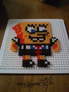 Spongebob Squarepants perler beads by RockerDragonfly on deviantart